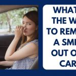 What is the way to remove a smell out of a car?